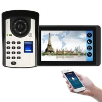 smart wifi video intercom support mobile phone remote call unlock with fingerprint unlock remote controls unlock doorbell set