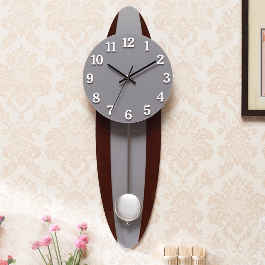 Reloj de pared Saatk de péndulo de madera antigua, Reloj silencioso grande, Reloj único, Reloj de pared decorativo grande Saatks 6W58