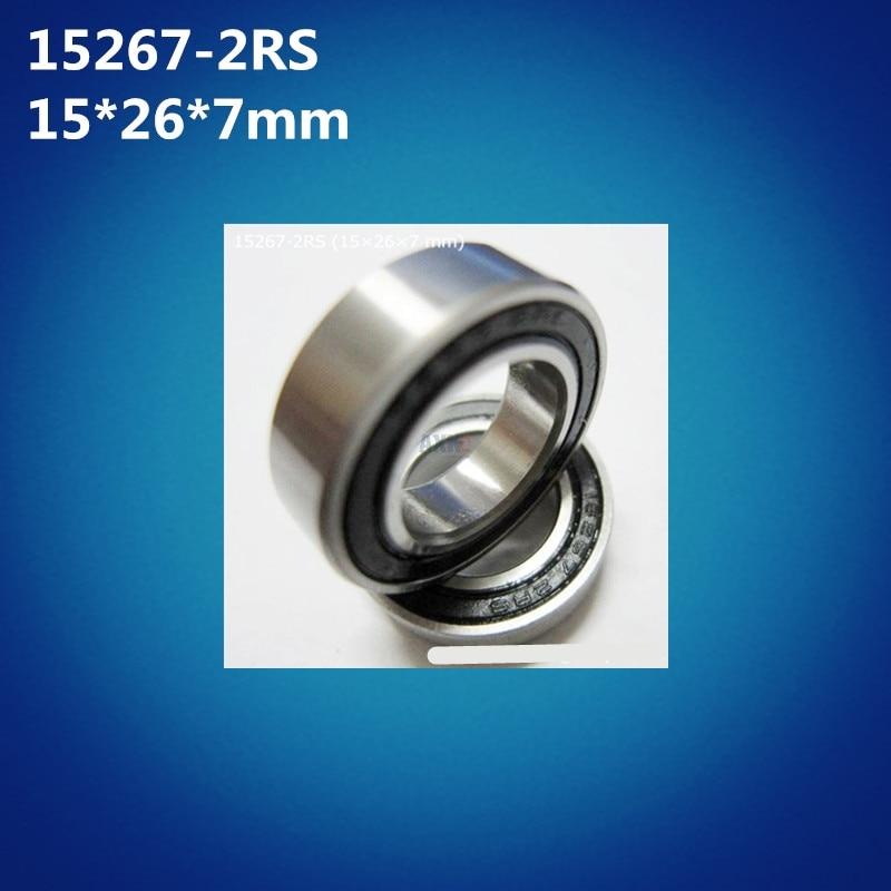 Free shipping 10pcs high quality 15267-2RS (15*26*7mm) 15267RS bike wheels bottom bracket repair GCR15 ball bearing MR15267