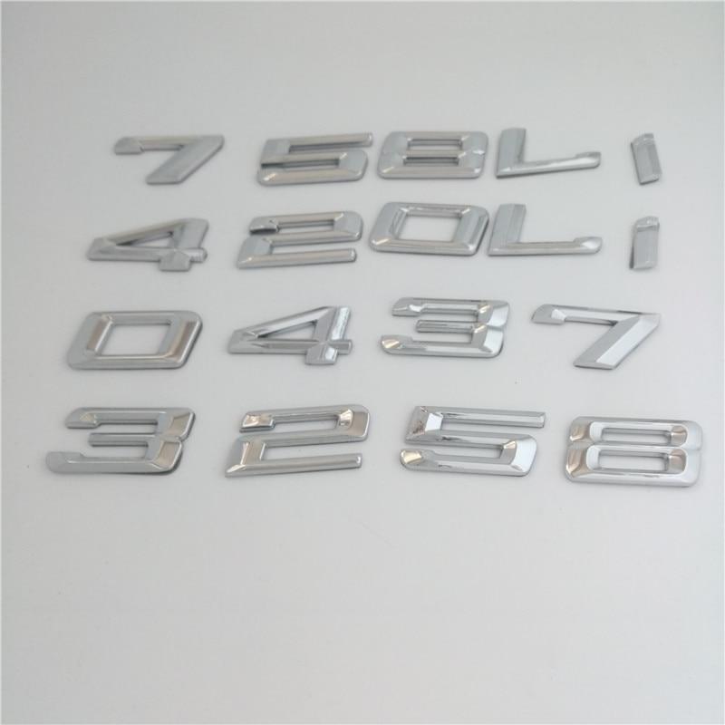 Car Styling 3D ABS Auto Car Emblem Badge Rear Trunk Logo Sticker For BMW 1 7 5 3 E46 E39 E90 E60 E36 E30 E34 E53 F30