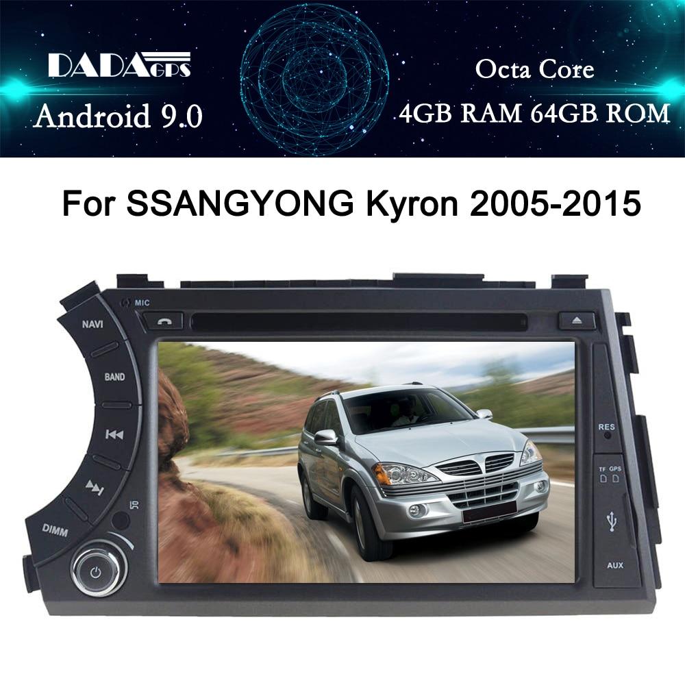 Android 9,0 4G RAM DSP IPS salida AV GPS para coche para Ssang yong Ssangyong Actyon Kyron reproductor de dvd radio receptor de pantalla