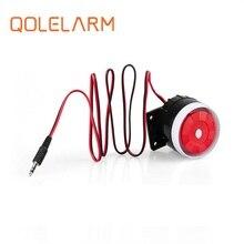 Qolelarm free shipping 120dB 6-12VDC wired indoor mini siren Horn loudly siren for gsm wireless alarm system