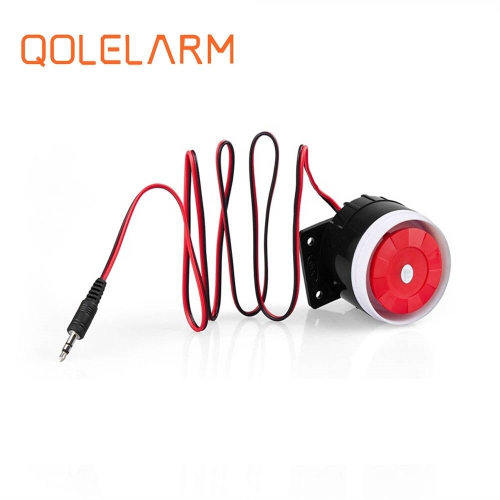 Qolelarm Бесплатная доставка 120dB 6-12VDC Проводная Домашняя мини сирена громкая сирена для gsm беспроводной системы сигнализации