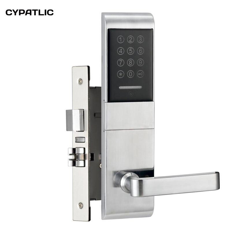 قفل باب الشقة المزود ببطاقة M1 قفل باب دخول بدون مفتاح مع مفاتيح ميكانيكية