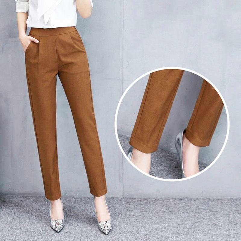 Female Fashion Harem Pants Summer Autumn Elastic Waist Casual Casual Slim Pants Women Pants Work Wear Trousers Harem Pants