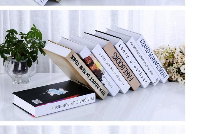 wholesale 10PCS home photography props books English Dictionary Book Cash Money Safe Box Case