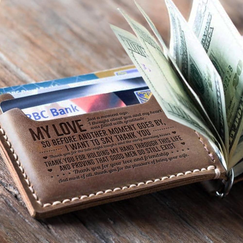 RFID Bloqueando Carteira Bifold Fino Couro Genuíno Bolso Frontal Minimalista Carteiras para Homens com Dinheiro Clipe