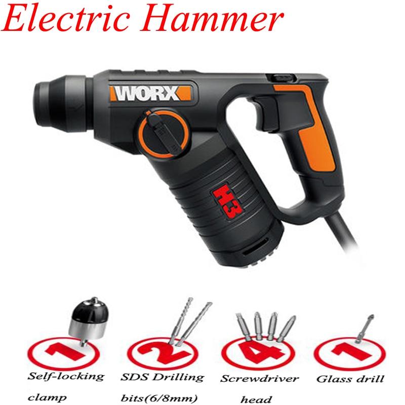 مثقاب كهربائي متعدد الوظائف للحفر على الحائط ، تأثير الخرسانة ، أداة كهربائية منزلية WX346