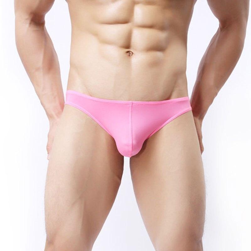 Сексуальное мужское ультра-тонкое шелковое нижнее белье u-образная выпуклая сумка, Трусы-стринги, гладкие дышащие Бесшовные стринги с низко...