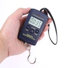 Mini báscula Digital de 40kg x 10g para equipaje de pesca, peso de viaje, Steelyard colgante de balanza electrónica, herramienta de peso de cocina