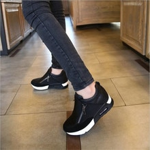 Neue Frauen Casual Schuhe Höhe Zunehmende Zipper Atmungsaktive Frauen Fuß Wohnungen Trainer Schuhe Herbst Plattform Turnschuhe