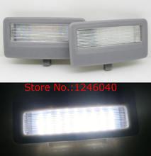 LED para espejo de tocador de luz de maquillaje compatible con BMW F10 F11 F01 F02 F03 F04 F07, carcasa gris de gran brillo, color blanco, de alta calidad