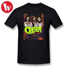 Camiseta con estampado de dibujos animados de Eric Clapton, banda de crema, Clapton, camiseta de música de manga corta de Sin fondo, camiseta gráfica de algodón de verano