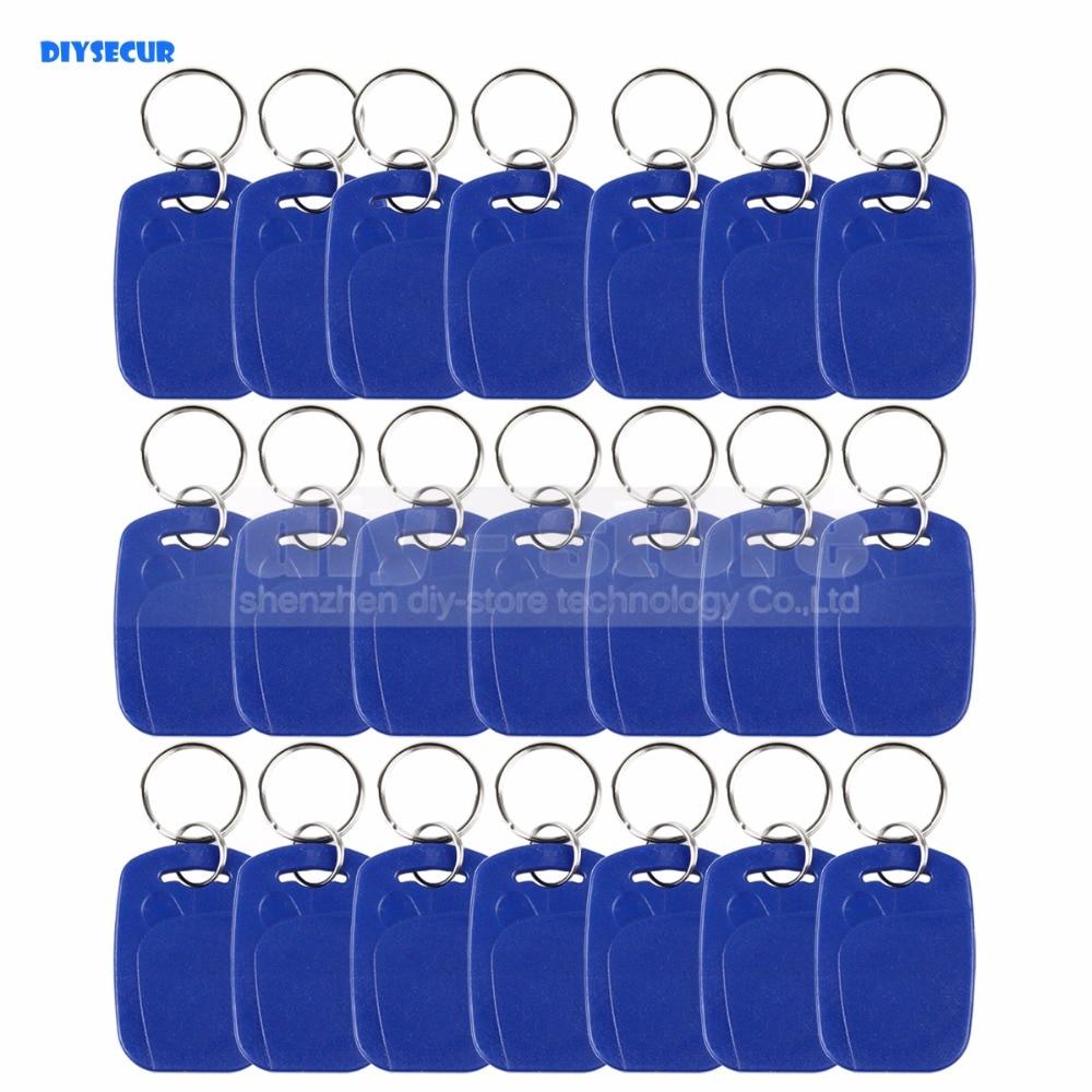 DIYSECUR 100pcs/lot Rfid 125Khz Proximity Rfid Id Card Keychain Key Tags Keyfobs