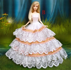 Evening Dress Doll Multi Layers Wedding Dress Furniture For Doll Clothes Doll Accessories