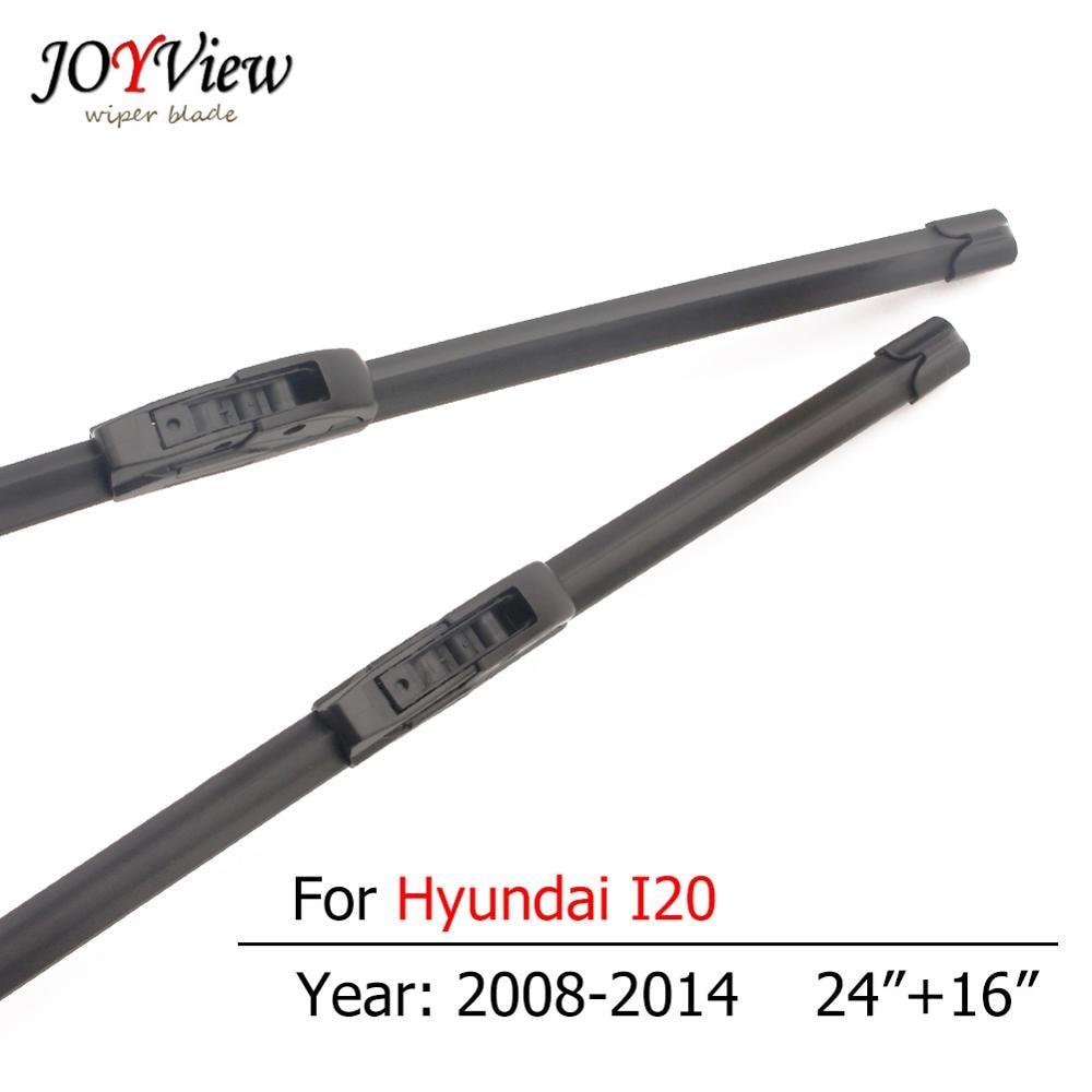 S410 coche limpiaparabrisas para Hyundai I20 2008, 2009, 2010, 2011, 2012, 2013, 2014, tipo gancho frente limpiaparabrisas 24 + 16 pulgadas