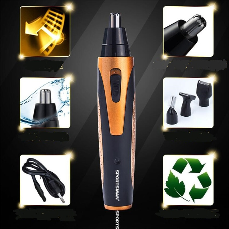 4 in 1 man grooming kit electric nose hair trimmer cutter beard shaver eyebrow shave sideburns hair clipper razor nose haircut enlarge