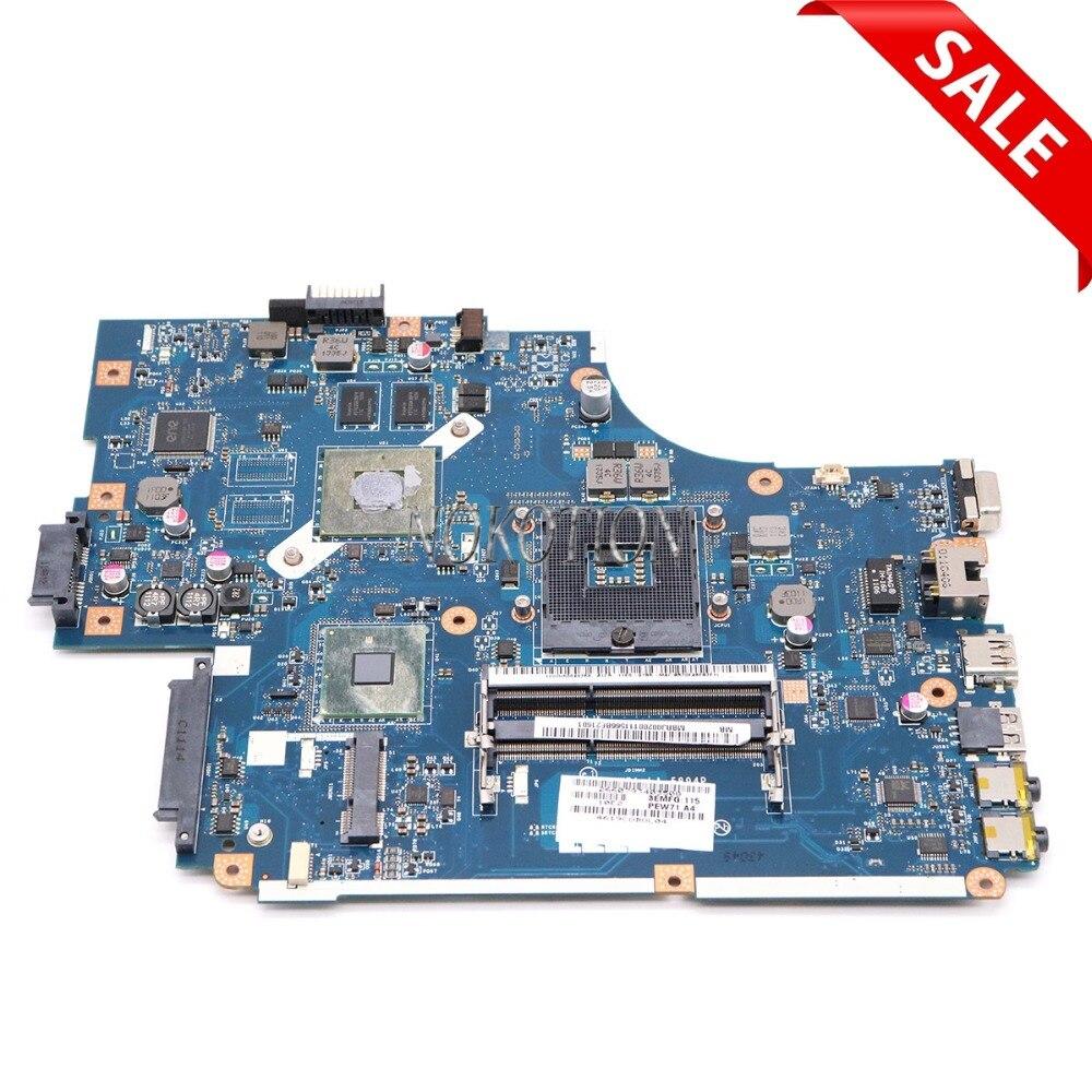 NOKOTION MBRJ002001 MB. RJ002.001 NEW70 LA-5894P laptop motherboard Principal board Para acer aspire 5741 5742 GT520M