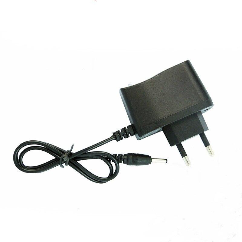 Cargador adaptador de fuente de alimentación 4,2 V 0.5A 500mA 3,5mm AC para 3,7 V 18650 16340 linterna lámpara