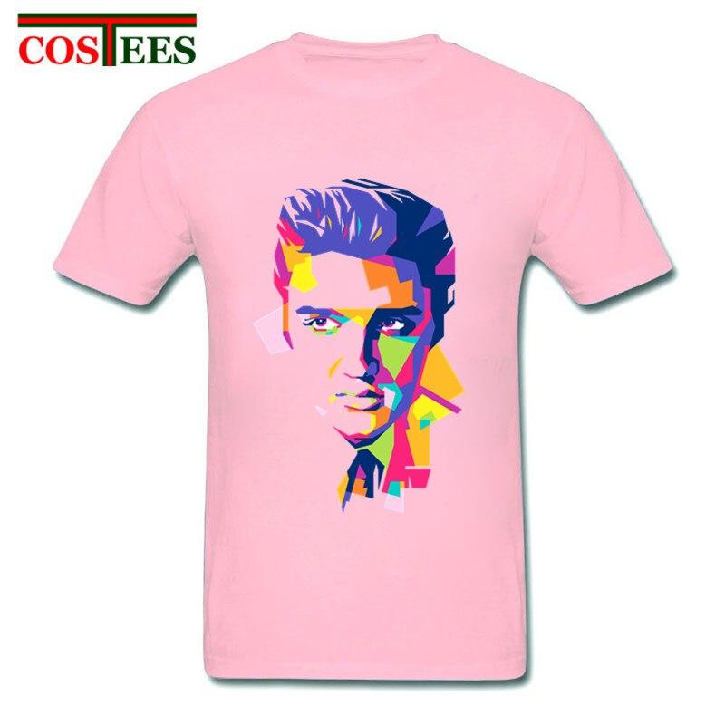 ¡Novedad de 2018! Camiseta clásica informal para hombre, Camiseta con estampado de Rey del Rock de ELVIS Presley para hombre, camiseta de música rock
