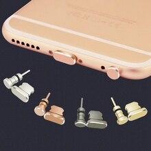 Aluminum Alloy Charging Port Earphone 3.5mm Jack Dust Plug Set for iPhone XS MAX X 8 plus 7 6 6S Phone Anti Dust Cap Stopper