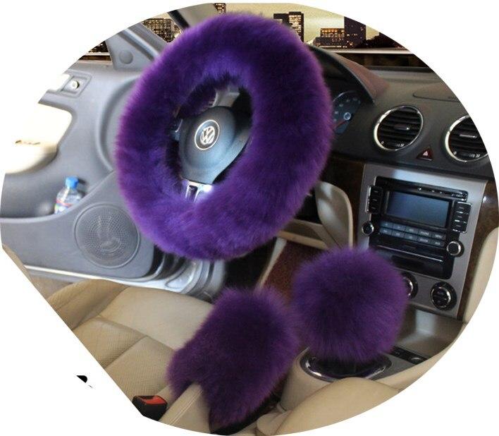 Зимний теплый шерстяной чехол для ручного тормоза, чехол для рулевого колеса 38 см 14,96