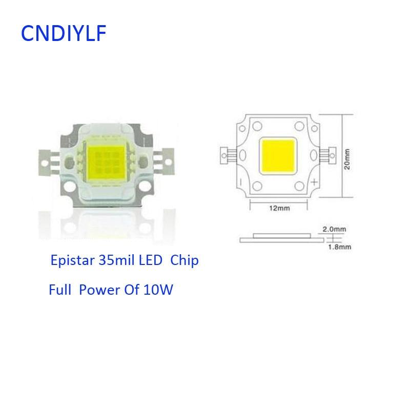2017 New Arrive 10 pcs   High  Power  10W 9-12V 27-30V 800-900LM Warmwhite/Coldwhite Bright  LED module chip beads