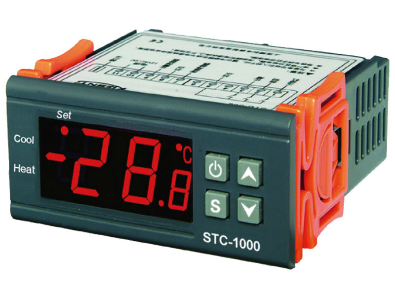 Termostato de STC-1000 con controlador de temperatura multiuso de 220V CA con interruptor de sensor de 2M
