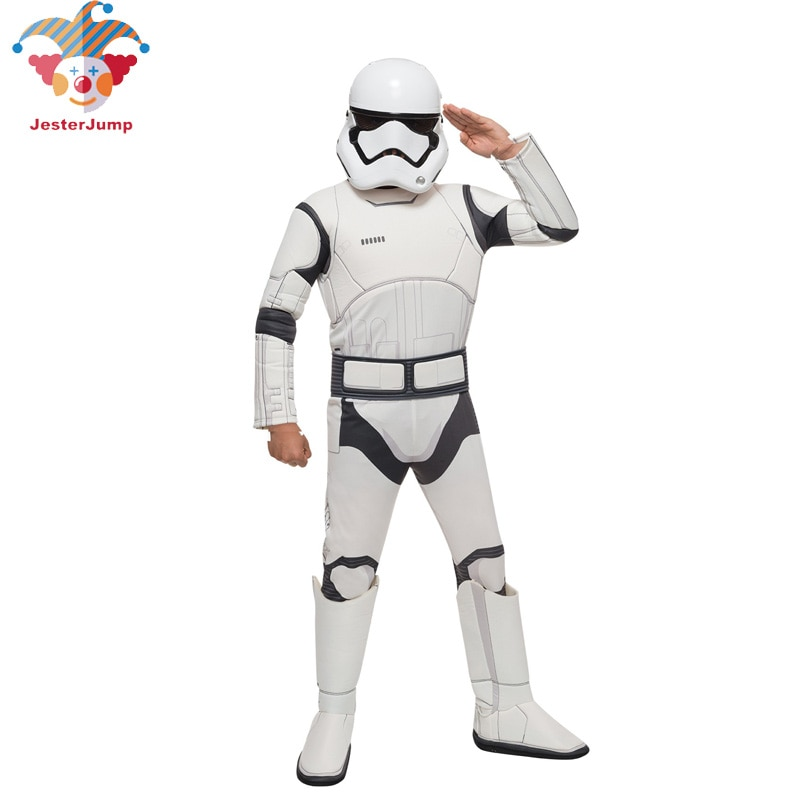 Purim Clone Storm Trooper Force Awakens Kylo Ren Superhero Party Stormtrooper Costume Darth Vader Boy Halloween Costume for Kids