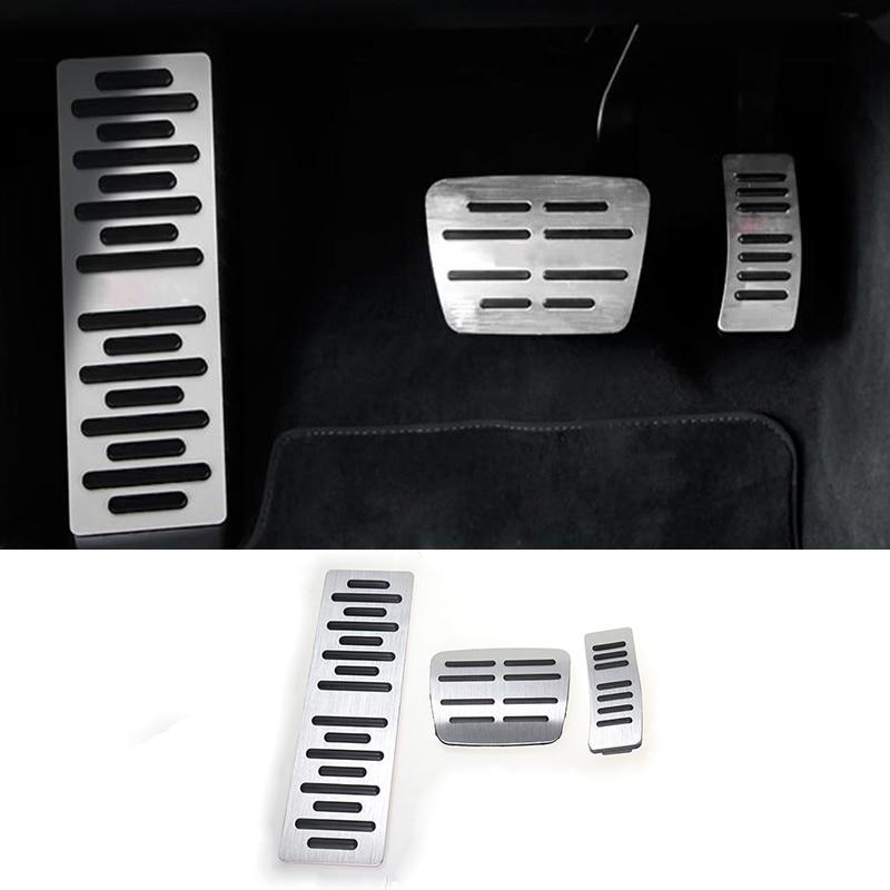 Auto Styling Brems Accelerator Auto Pedale Covers Aufkleber Für Audi A6 C7 A1 A7 Fuß Rest Drossel Innen Auto zubehör