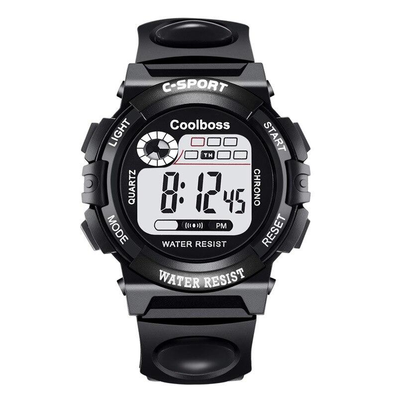 Nuevo lujo alarma Digital cronómetro luz trasera mujeres hombres niños deportes reloj de pulsera reloj relogio femenino masculino 8A93