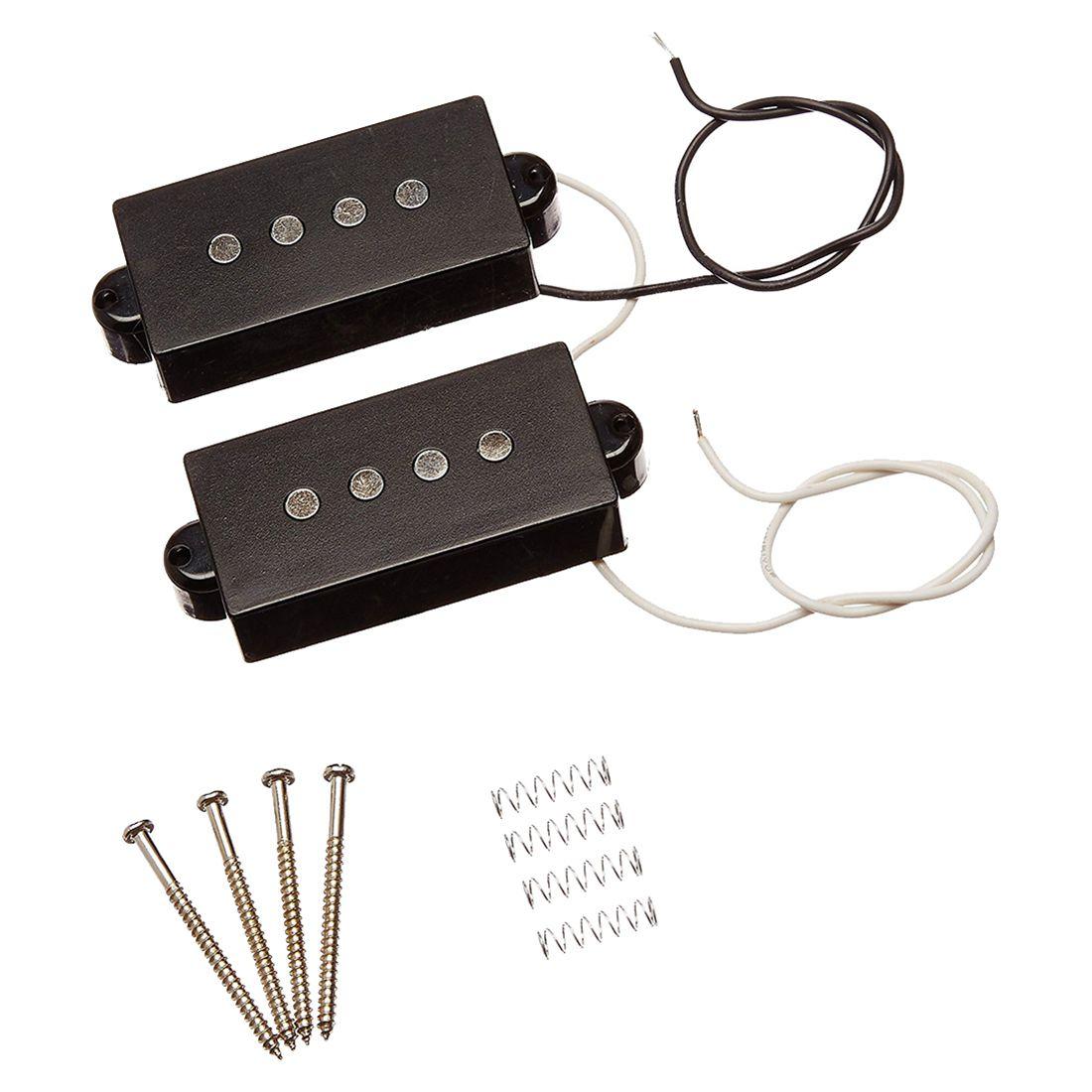 XFDZ 1 Juego de 4 cuerdas sin ruido Pickup negro para precisión P repuesto para bajo