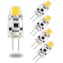 5 bombillas LED Mini G4 regulables 12V DC COB LED G4 bombilla 3000K 4000K 6000K 360 Ángulo de haz reemplazar 15W halógeno para araña