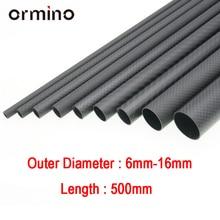 Ormino 3 K Tube en Fiber de carbone pour Drone bricolage quadrirotor cadre bras train datterrissage 6mm 8mm 10mm 12mm 14mm 15mm 16mm Rc Drone kit bricolage