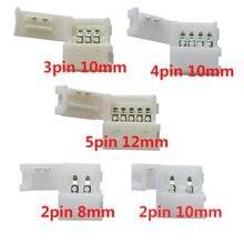 10/50/500/1000 pièces 2pin 3pin 4pin 5pin led connecteur Clip pour 5050 3528 3014 WS2811 WS2812b couleur simple/RVB/RGBW LED lumière De Bande