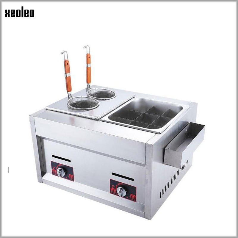 O gás comercial oden ferveu a fritadeira da sopa do macarronete para a máquina da cozinha