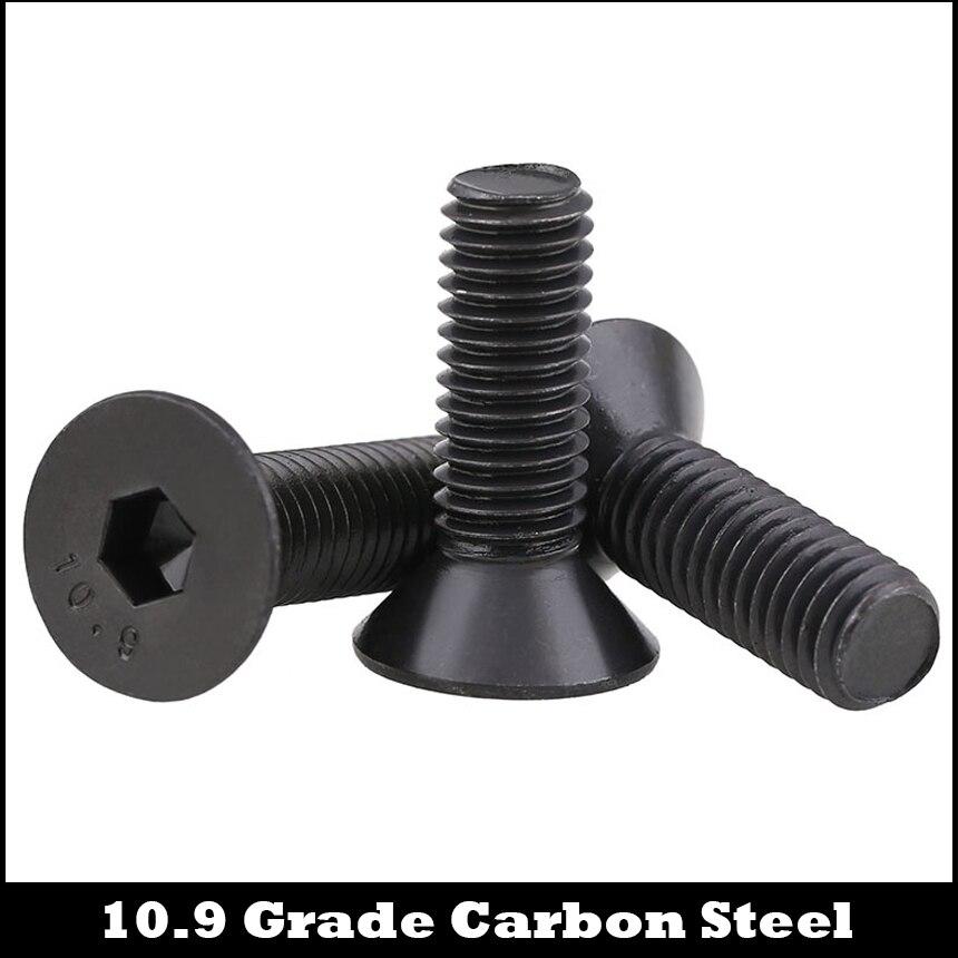 M3 M3 * 4/5/6/7/8/9 M3 * 4/5/6/7/8/9 10,9 Grade Schwarz Carbon Stahl DIN7991 Flachen Senkkopf Innen Hex Hexagon Buchse Schraube