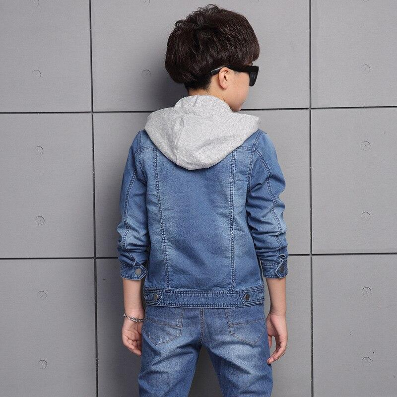 Children's Clothing Denim Jacket + Trousers New Boys' Suit Autumn The 5-12 Ages Boy Long-sleeved Cowboy 2pc Set of Boys' Clothes