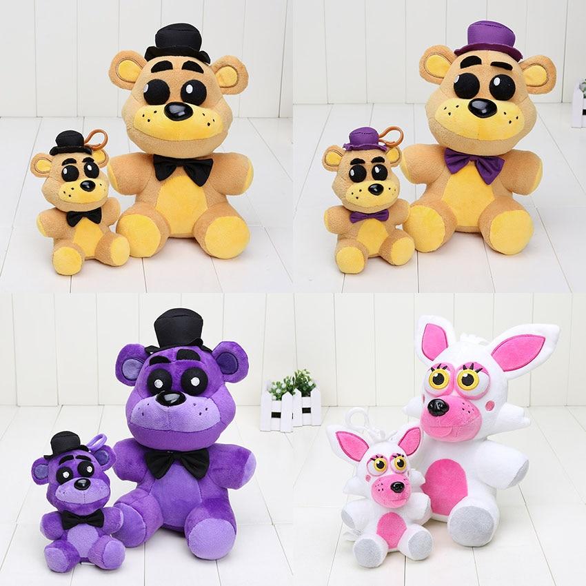 Плюшевые игрушки FNAF, 25 см/14 см, подвеска Five Nights At Freddy's Golden Fredbear, Fredbear, Shadow, Fredbear, Mangle, брелок, игрушки