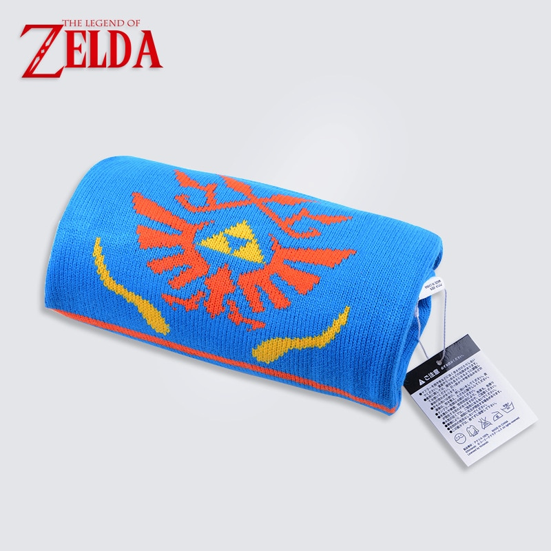 A lenda de zelda hailar guerreiros jogo azul laranja cachecol feminino unisex presente de natal para fã adereços