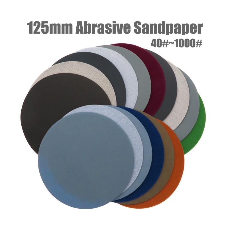 20 sztuk 5 cali (125 mm) wodoodporne tarcze szlifierskie z węglika krzemu do okrągłego papieru ściernego na mokro / sucho