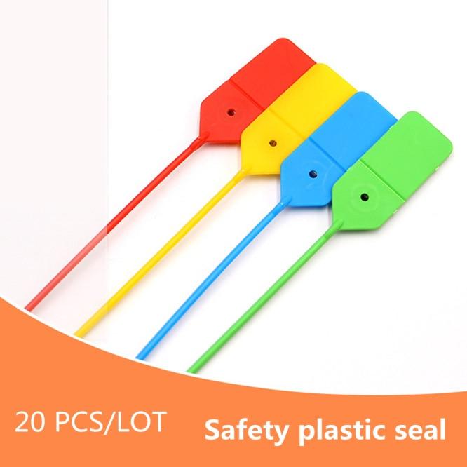 20 unids/lote contenedor de logística de Cable de plástico de lazos de apriete de seguridad Anti-robo de sello de plástico 40 cm seguridad bloqueo