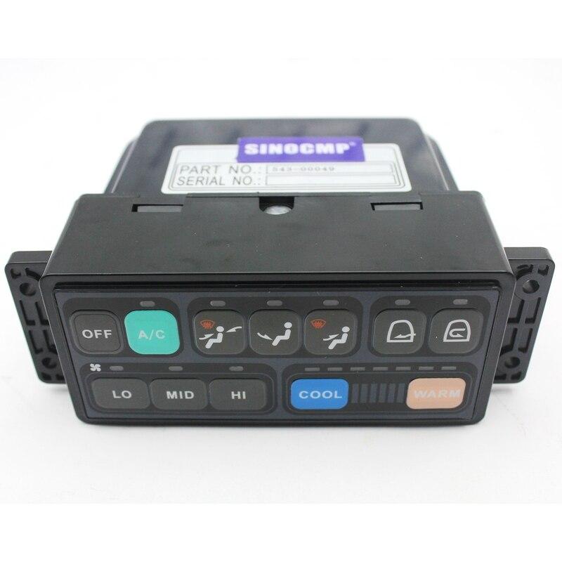 لوحة التحكم الشمسية 340LC-7 Aircon 543-00049 مجرفة من شركة Doosan ، ضمان لمدة 6 أشهر