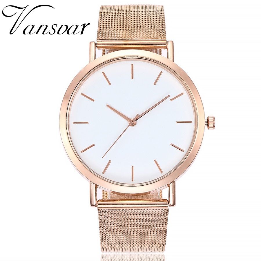 vansvar Casual Quartz Stainless Steel Band Marble Strap Analog Wrist Watch 2019 Fashion Sport Wacth zegarek damski femme clock