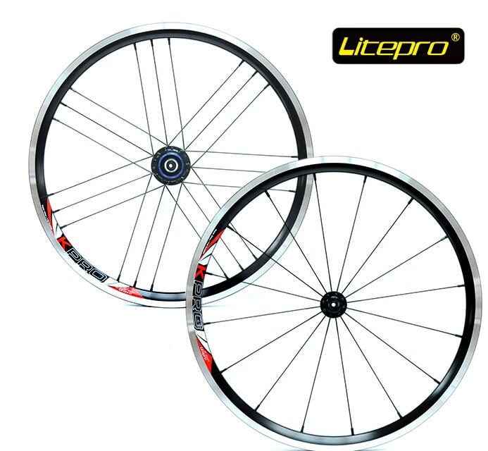 Litepro ultralite 960g 16/21h 20 inch 406 wheel set folding bike V brake wheelset bmx wheels bmx parts