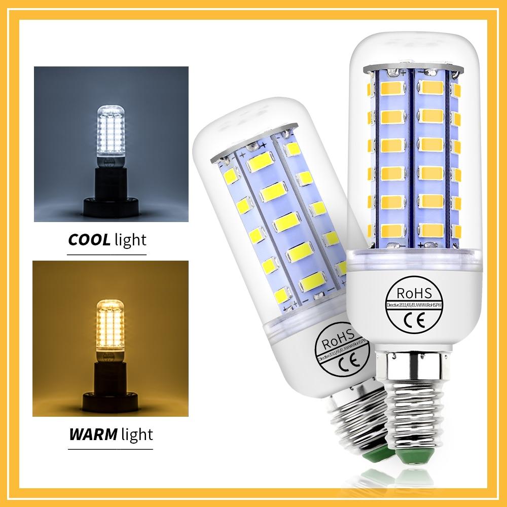 CanLing GU10 LED 220V Lamp E27 Corn Bulb E14 Led Candle Light 5730SMD 24 36 48 56 69 72leds Home Energy Saving 240V
