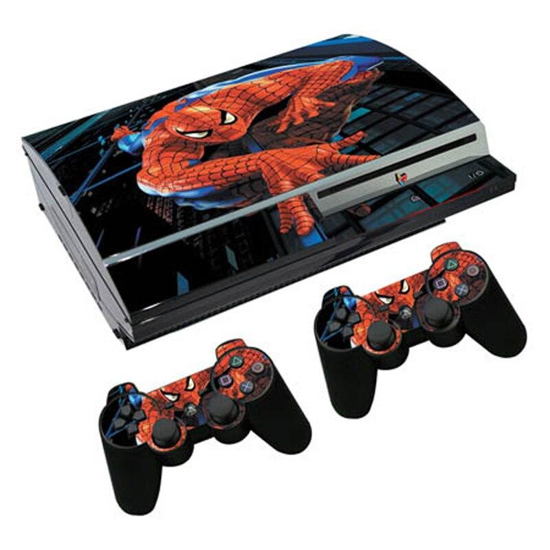 Homem aranha vinil pele para ps3 gordura console adesivo capa para playstation 3 controlador de gordura controle gamepad mando decalque