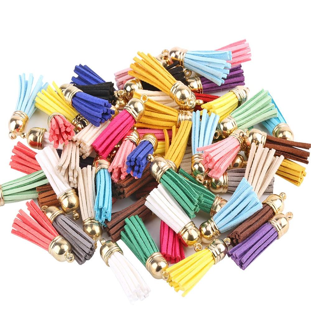 10PCS 3cm Mini Tassels Vintage Leather suede tassel phone tassels for DIY Craft jewelry findings pendant earrings accessories