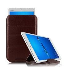 Etui peau de vache pour Huawei Mediapad T3 10 housse de protection intelligente en cuir véritable T310 ags-w09 l09 l03 étui de protection 9.6 pouces