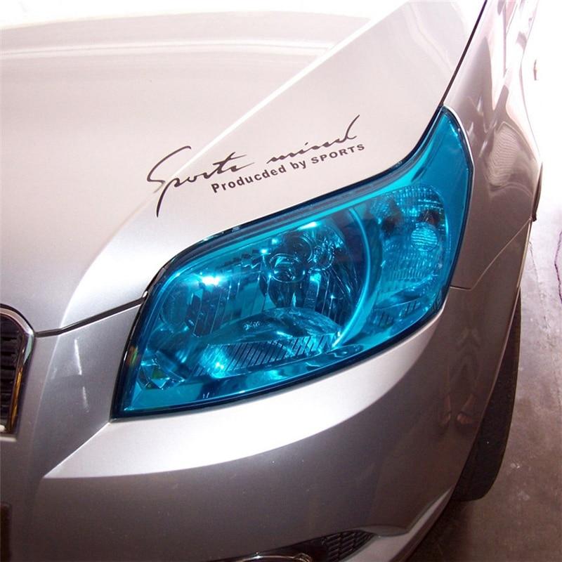 Film de lumière en vinyle   Super brillant, queue de brouillard, teinte de la voiture, Film de lumière en vinyle, enveloppe de vinyle